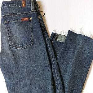 7 For All Mankind  Step-Hem Skinny Jeans